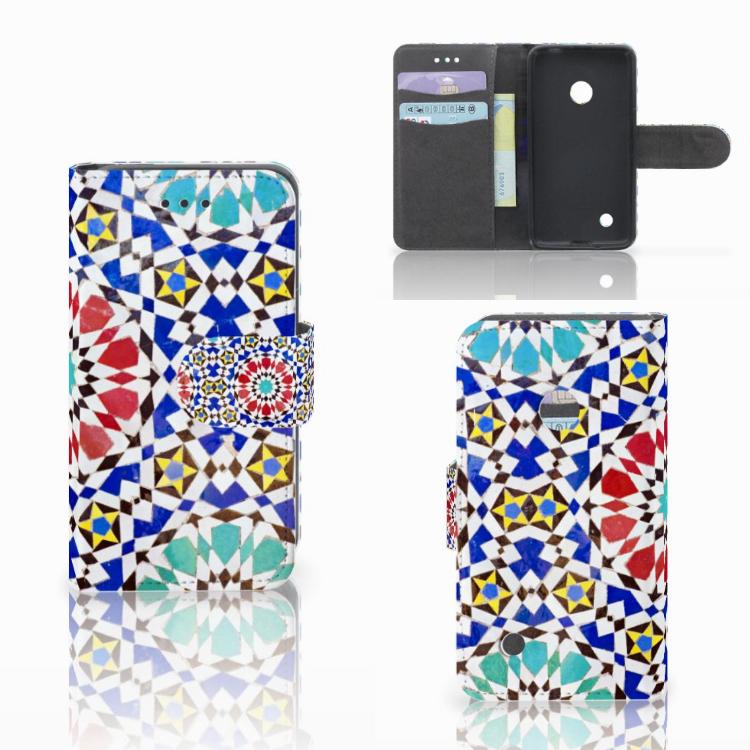 Nokia Lumia 530 Uniek Hoesje Opbergvakjes Mozaïek