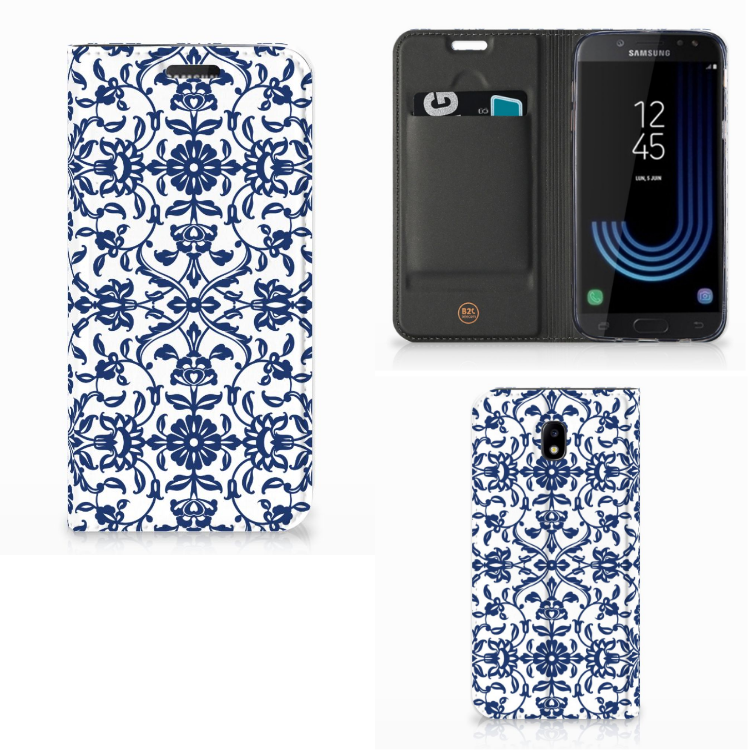 Samsung Galaxy J5 2017 Smart Cover Flower Blue