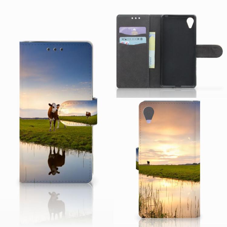 Sony Xperia X Performance Telefoonhoesje met Pasjes Koe