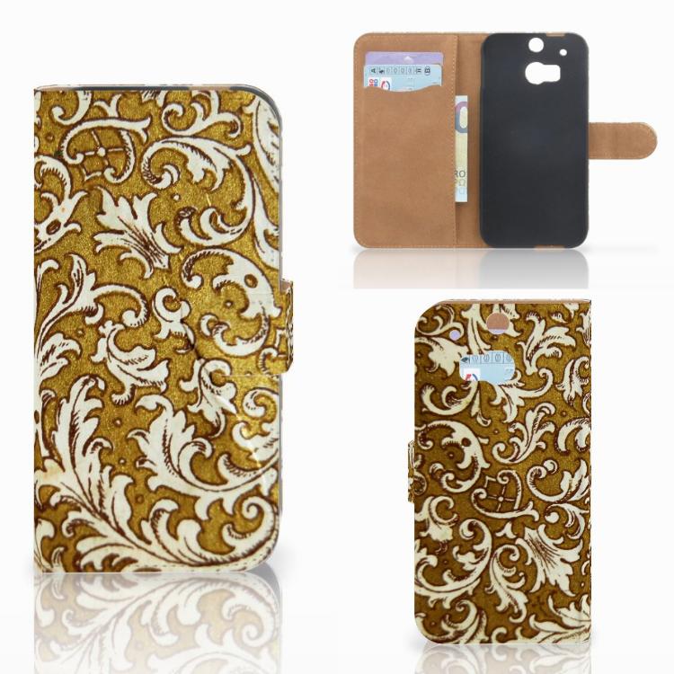 Wallet Case HTC One M8 Barok Goud