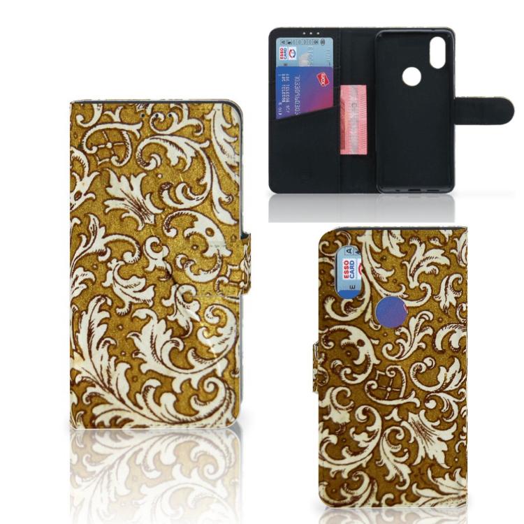Wallet Case Xiaomi Mi Mix 2s Barok Goud