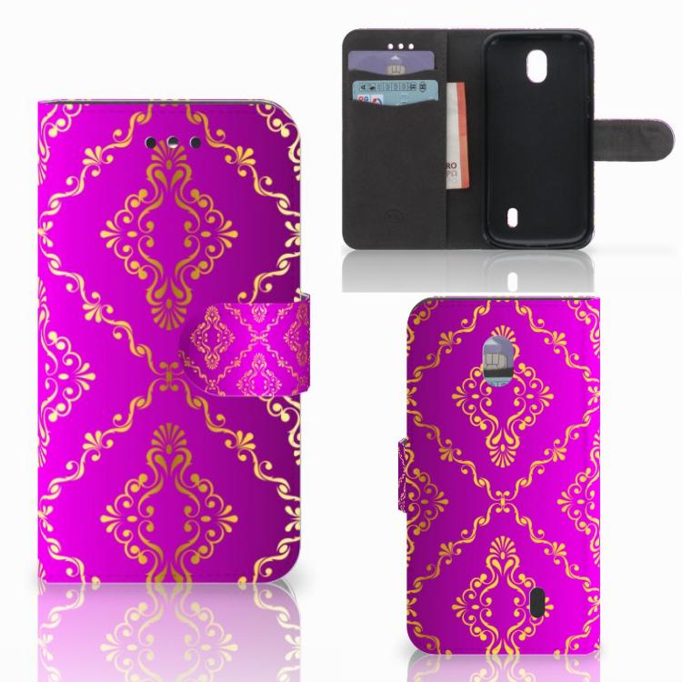 Wallet Case Nokia 1 Barok Roze