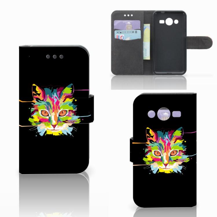 Samsung Galaxy Core 2 Leuke Hoesje Cat Color