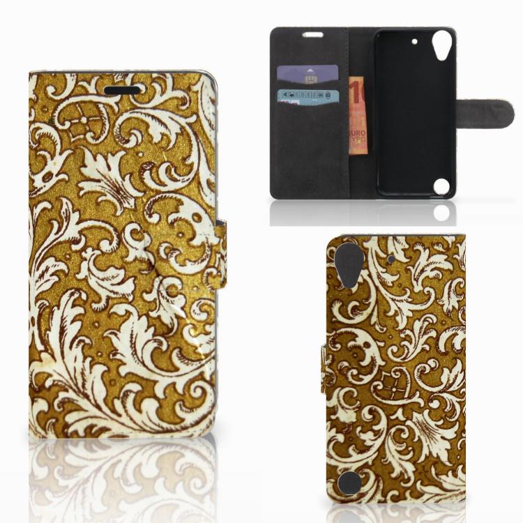Wallet Case HTC Desire 530 Barok Goud