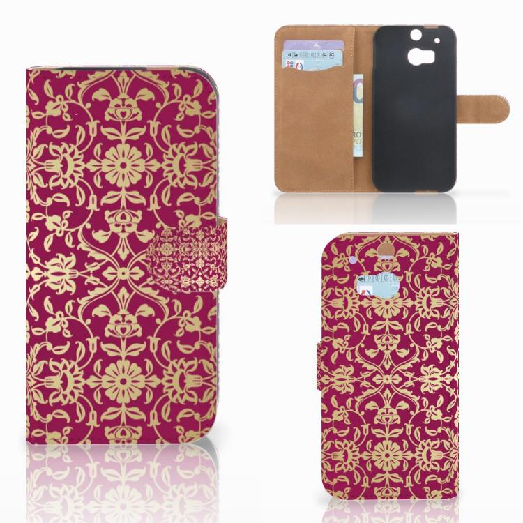 Wallet Case HTC One M8 Barok Pink