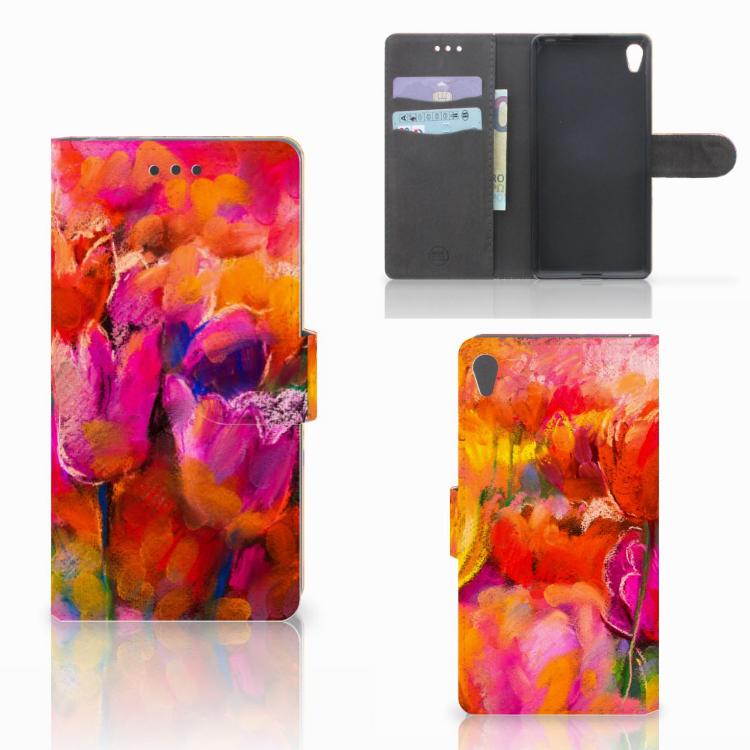Hoesje Sony Xperia E5 Tulips