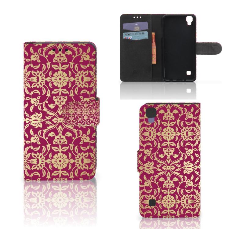 Wallet Case LG X Style Barok Pink