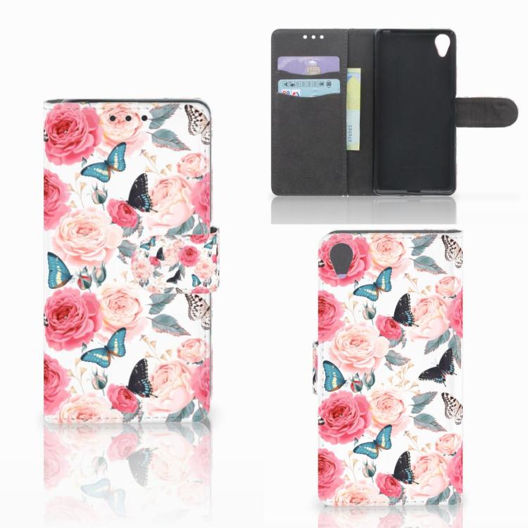 Sony Xperia X Hoesje Butterfly Roses