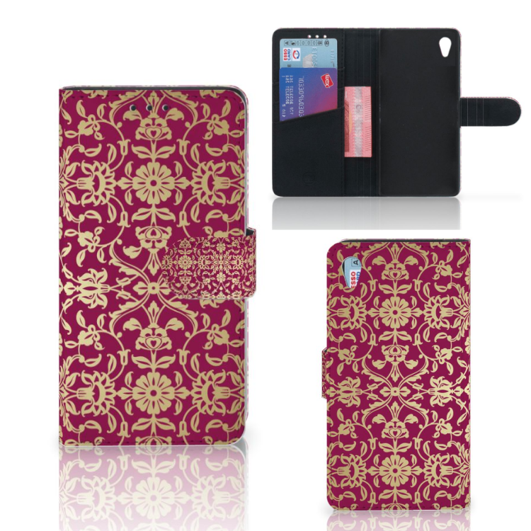 Wallet Case Sony Xperia Z3 Barok Pink