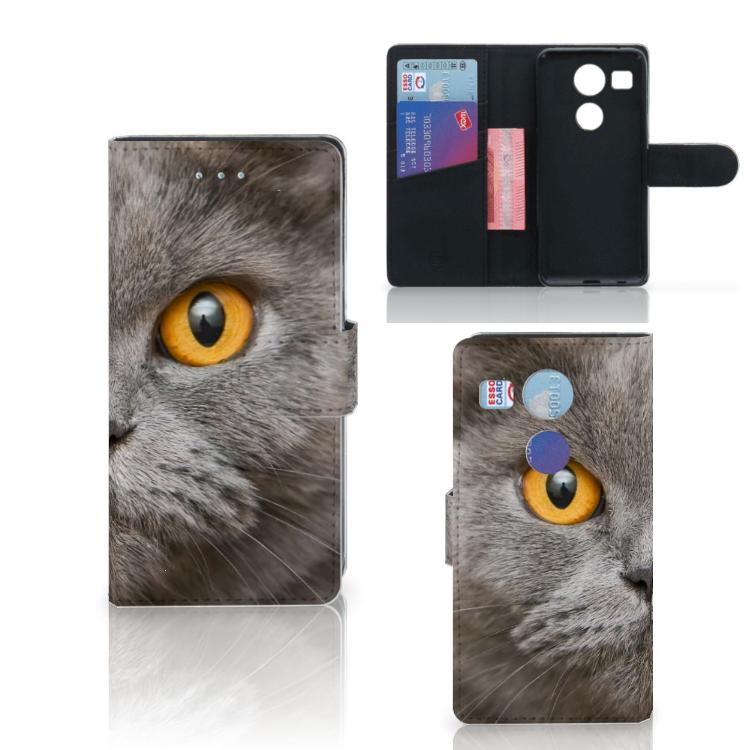 Telefoonhoesje met Pasjes LG Nexus 5X Britse Korthaar