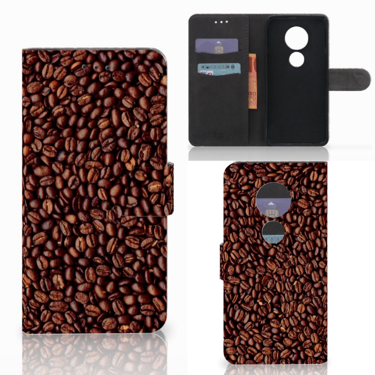 Motorola Moto E5 Play Book Cover Koffiebonen