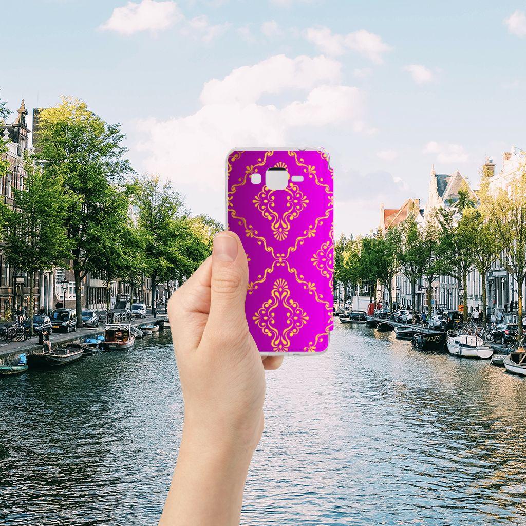 Wallet Case Samsung Galaxy Grand Prime Barok Roze