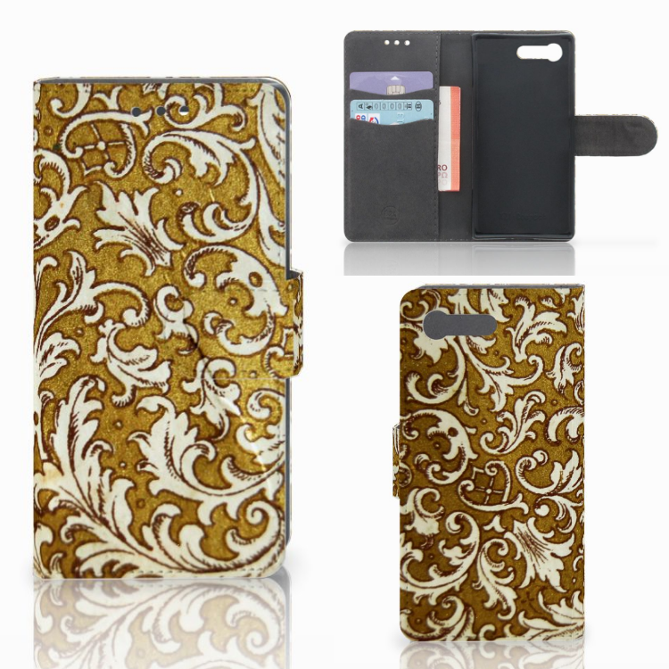 Wallet Case Sony Xperia X Compact Barok Goud