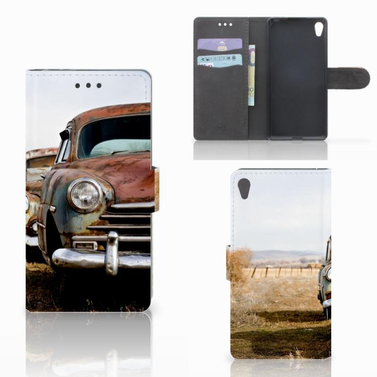 Sony Xperia E5 Telefoonhoesje met foto Vintage Auto