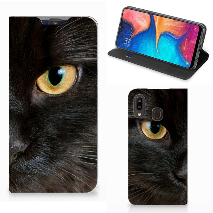 Samsung Galaxy A30 Hoesje maken Zwarte Kat