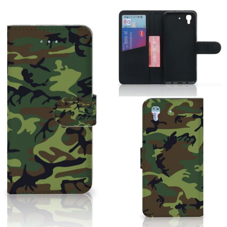 Honor 4A | Y6 Telefoon Hoesje Army Dark