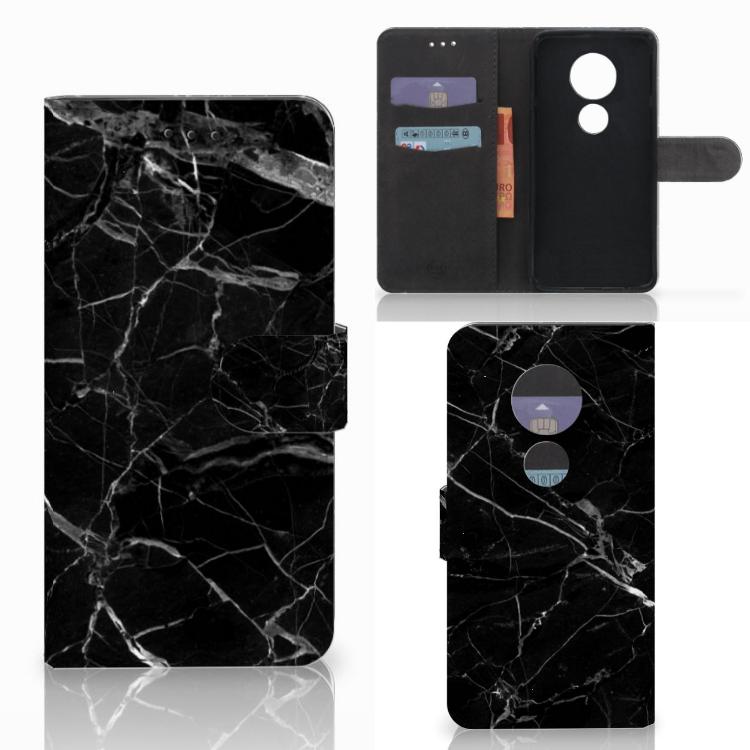 Motorola Moto E5 Play Bookcase Marmer Zwart