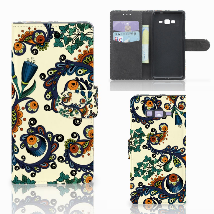 Wallet Case Samsung Galaxy Grand Prime | Grand Prime VE G531F Barok Flower