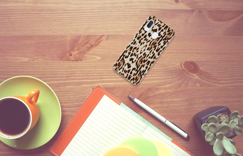 Samsung Galaxy A20e TPU Hoesje Leopard