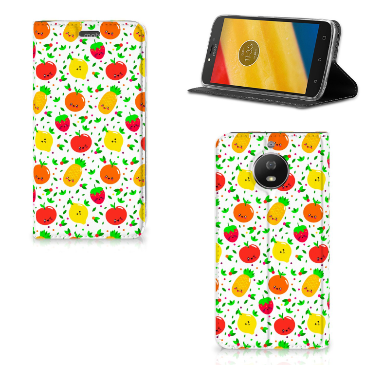 Motorola Moto G5S Flip Style Cover Fruits
