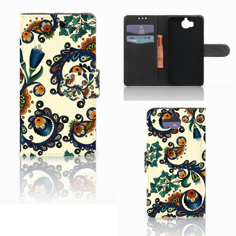 Wallet Case Huawei Y5 | Y6 2017 Barok Flower