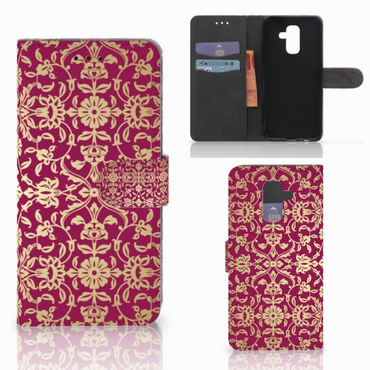 Wallet Case Samsung Galaxy A6 Plus 2018 Barok Pink
