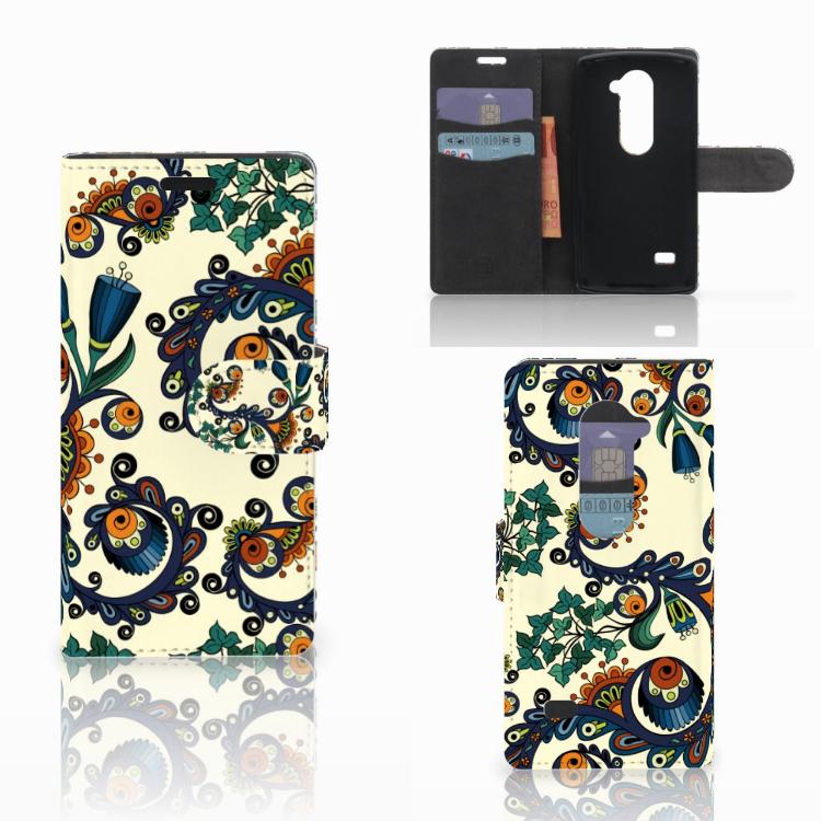Wallet Case LG Leon 4G Barok Flower