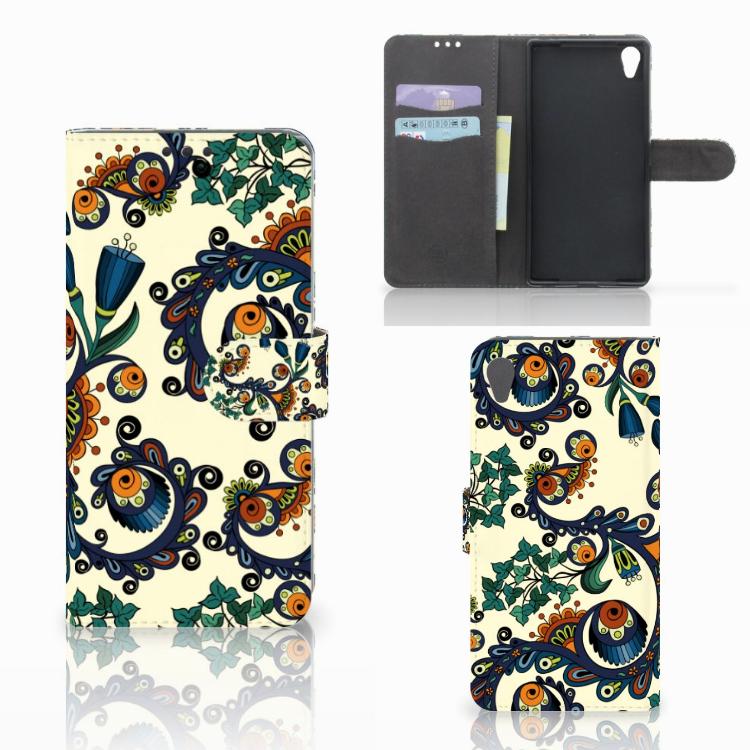 Wallet Case Sony Xperia Z5 Premium Barok Flower