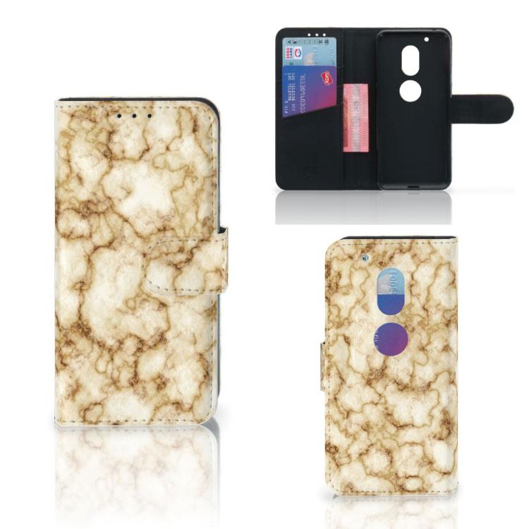Motorola Moto G4 Play Bookcase Marmer Goud