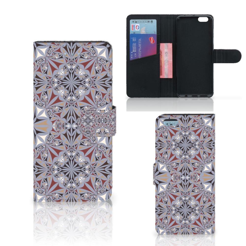 Apple iPhone 6 Plus | 6s Plus Bookcase Flower Tiles