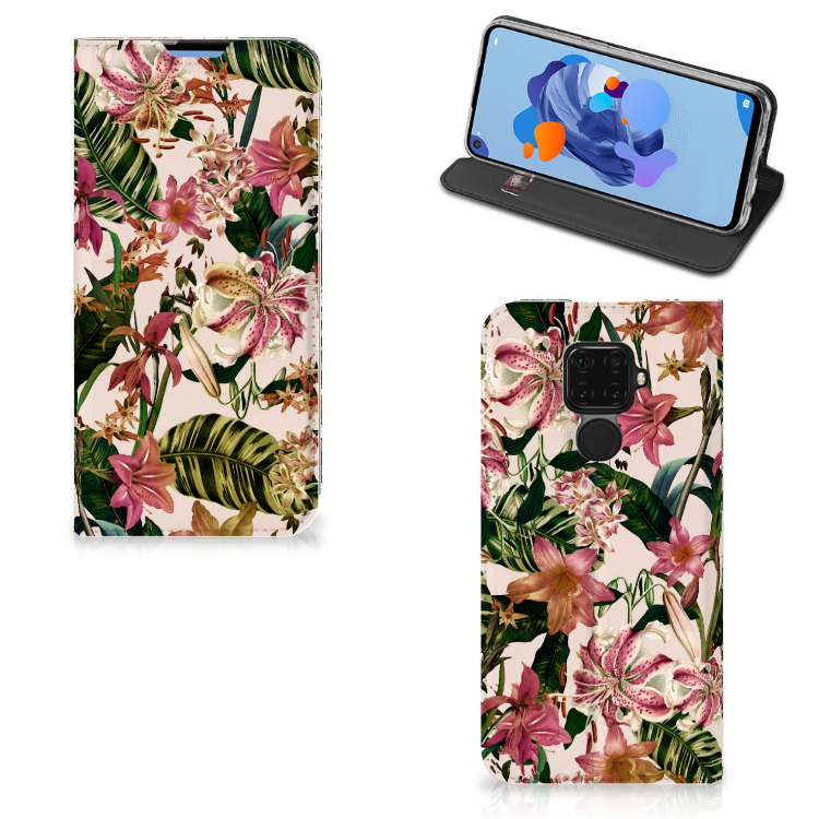 Huawei Mate 30 Lite Smart Cover Flowers