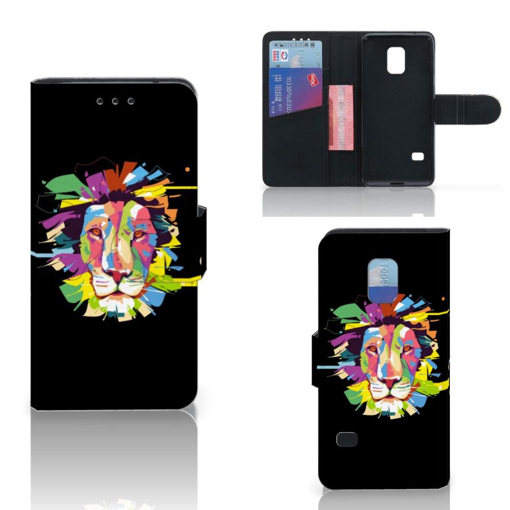 Samsung Galaxy S5 Mini Leuk Hoesje Lion Color