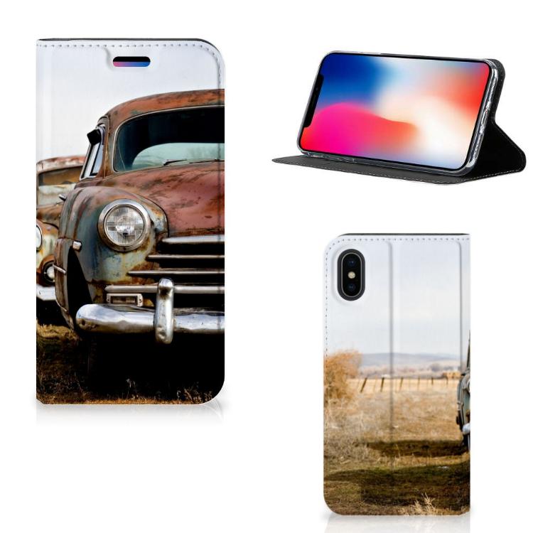 Apple iPhone X | Xs Stand Case Vintage Auto
