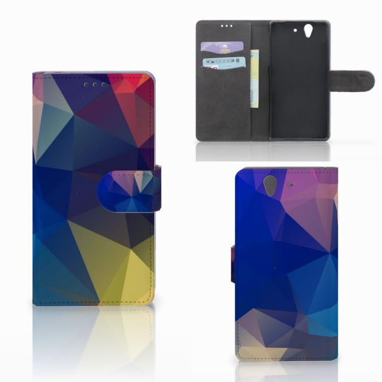 Sony Xperia Z Bookcase Polygon Dark