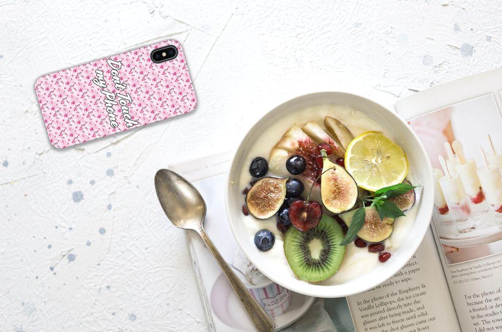 Apple iPhone X | Xs Uniek TPU Hoesje Flowers Pink DTMP