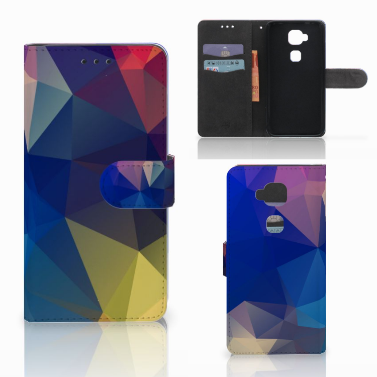 Huawei G8 Bookcase Polygon Dark
