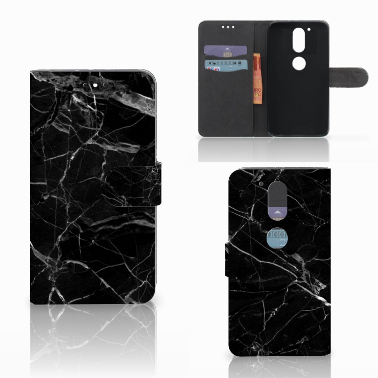 Motorola Moto G4 | G4 Plus Bookcase Marmer Zwart
