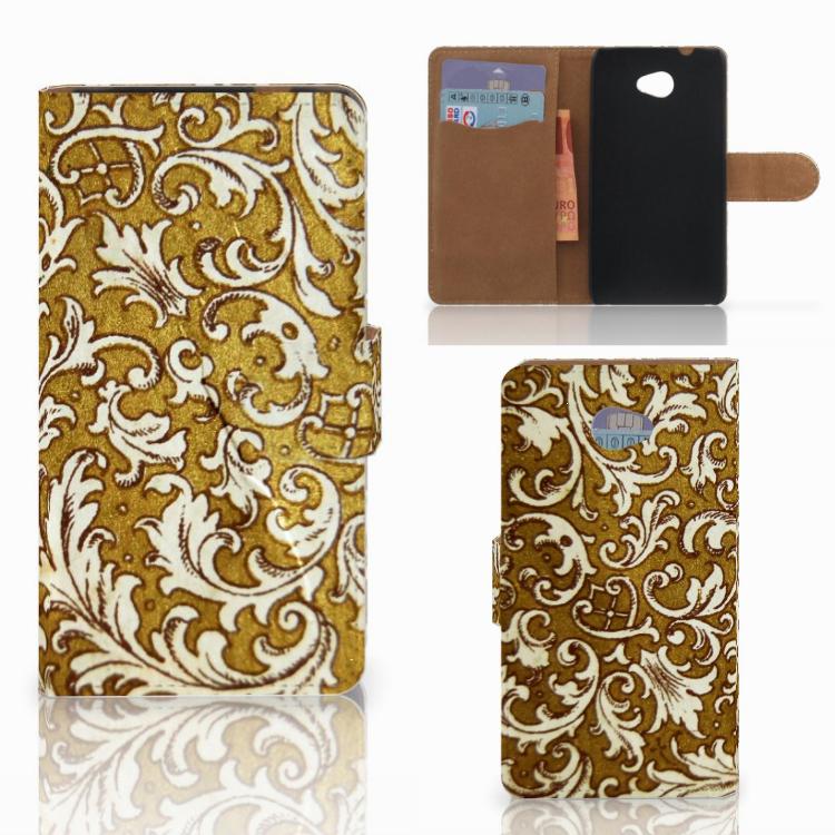 Wallet Case HTC Desire 601 Barok Goud