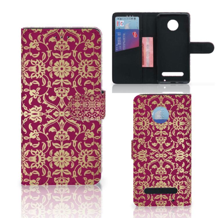 Wallet Case Motorola Moto Z2 Play Barok Pink