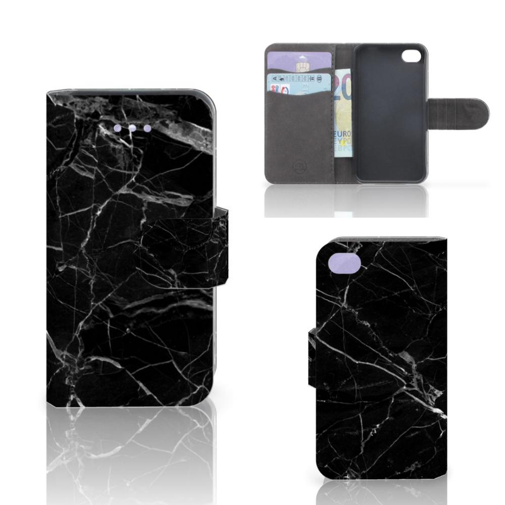 Apple iPhone 4 | 4S Bookcase Marmer Zwart - Origineel Cadeau Vader