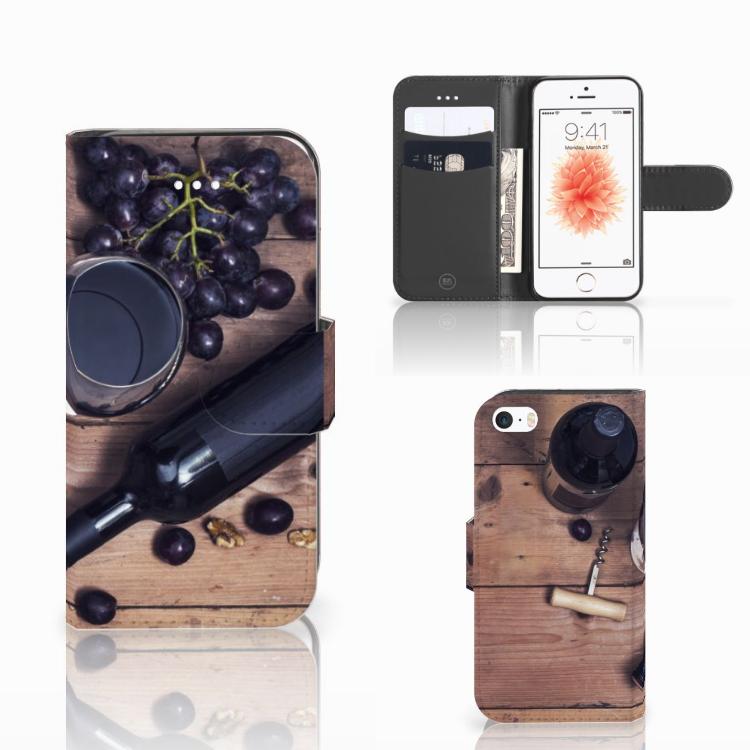 Apple iPhone 5 | 5s | SE Book Cover Wijn