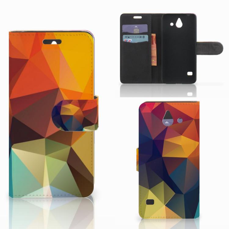 Huawei Ascend Y550 Bookcase Polygon Color