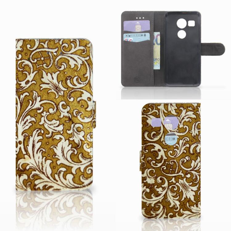 Wallet Case LG Nexus 5X Barok Goud