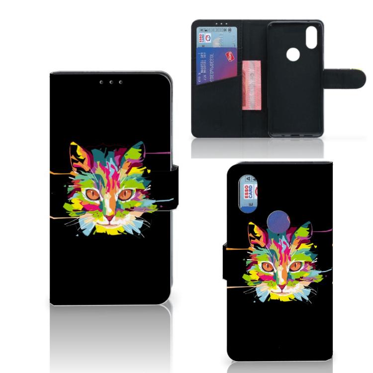 Xiaomi Mi Mix 2s Leuk Hoesje Cat Color
