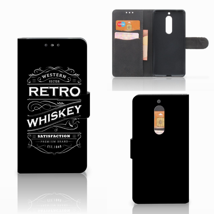 Nokia 5 Book Cover Whiskey