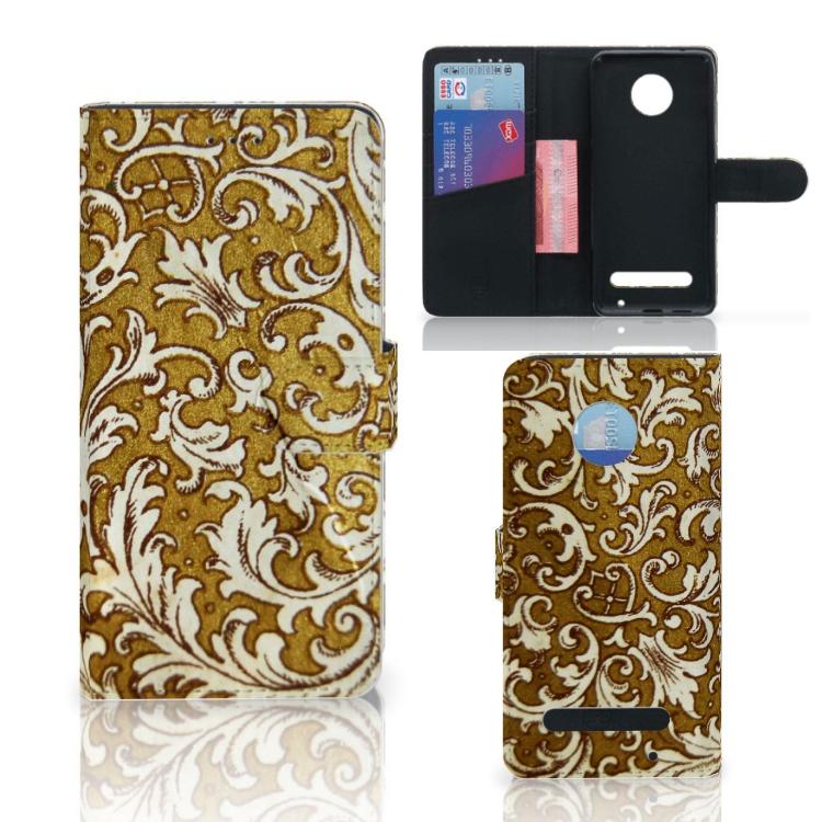 Wallet Case Motorola Moto Z2 Play Barok Goud