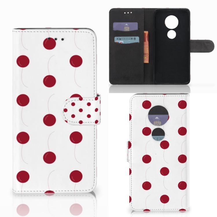 Motorola Moto E5 Play Book Cover Cherries