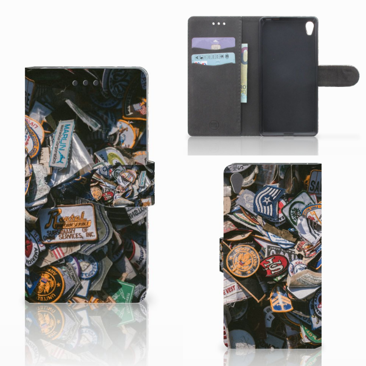 Sony Xperia E5 Telefoonhoesje met foto Badges