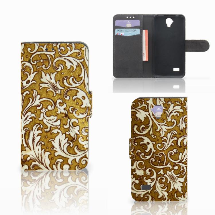 Wallet Case Huawei Y5 Y560 Barok Goud