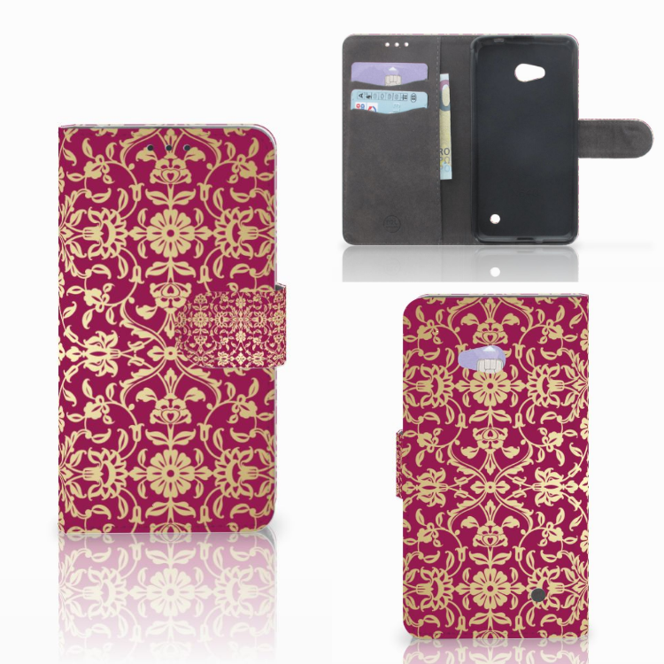 Wallet Case Microsoft Lumia 640 Barok Pink